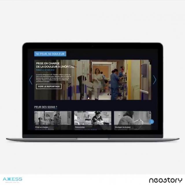 Réalisation d'un webdocumentaire pour notre client Air Liquide Santé