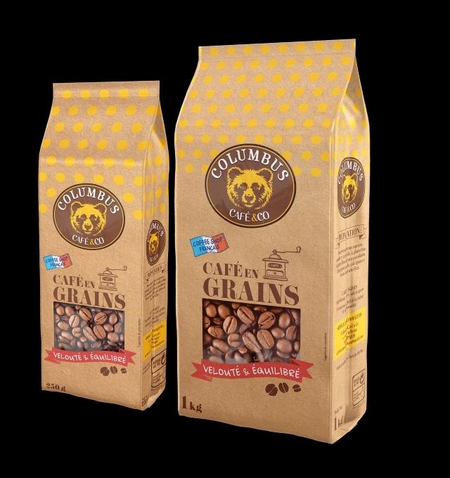 Gamme columbus café en grains