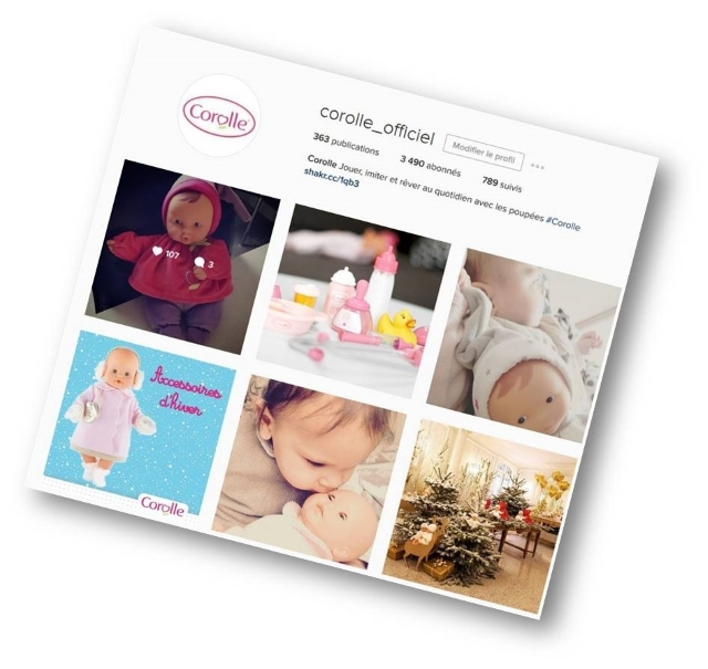 Corolle page instagram